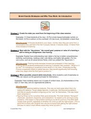 Brain-Friendly Strategies and Why They Work: An ... - Reading Prof