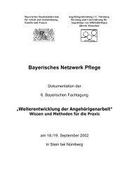 Bayerisches Netzwerk Pflege - Bayerisches Staatsministerium für ...