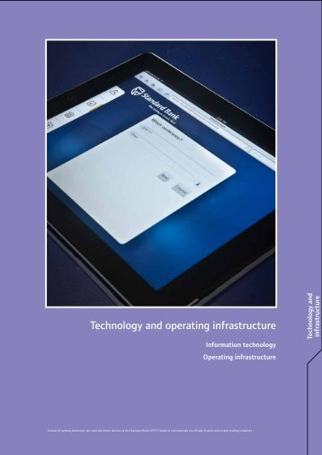 Technology and operating infrastructure - Standard Bank ...