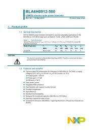 BLA6H0912-500 LDMOS avionics radar power transistor - NXP.com