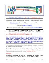 COMUNICATO n.30 del 16/02/2012 - FIGC