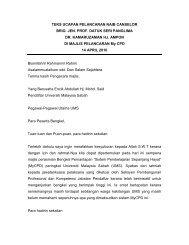 teks ucapan pelancaran naib canselor - UMS - Universiti Malaysia ...