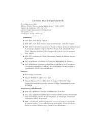 Curriculum Vitae de Olga Romaskevich Née `a Moscou en 1990 ...