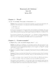 "Homework #3: Solutions Chapter 1 - ""Proof"" Chapter 1 ..."