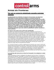 Armas sin Fronteras - Resumen - Control Arms