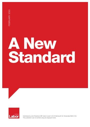 A-New-Standard---POLICY-DOCUMENT