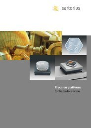 Sartorius IS-Ex - Interweigh Systems Inc.