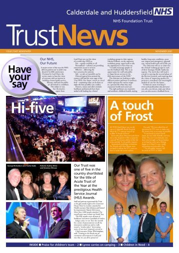 A touch of Frost - Calderdale and Huddersfield NHS Foundation Trust
