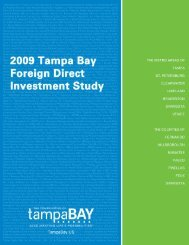 2009 Foreign Direct Investment Study - Tampa Bay Partnership