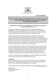 Circular 0037/2013 - Department of Education and Skills