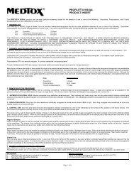 PROFILE®-II VISUAL PRODUCT INSERT - Medtox