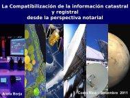 La Compatibilización de la información catastral y registral desde la ...