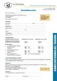 ANM ELD EFO RMU LA R /TA g UN g - Österreichische Gesellschaft ...