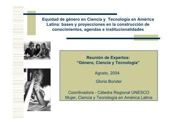 Equidad de género en Ciencia y Tecnología en ... - Cubaenergia