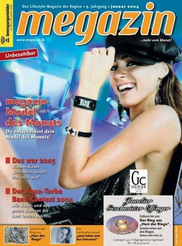 Das Lifestyle-Magazin Der Region • 9. Jahrgang • Januar - Megazin