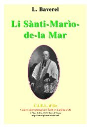 Li Santi-Marìo-de-la-Mar - Aix-Marseille I