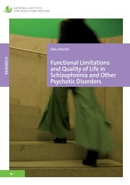 Functional limitations and quality of life in schizophrenia and ... - Helda