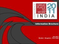 Information Brochure - Great Place to Work Institute