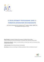 Rapport Évaluations des formations - IUFM