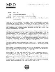 MSD's Corrective Action Update Dated 5/15/2012