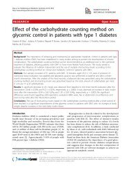 Effect of the carbohydrate counting method on glycemic control in ...