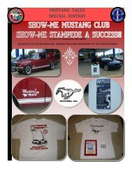MUSTANG TALES SPECIAL EDITION - Show Me Mustang Club