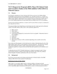 NCCN Request for Proposals (RFP): Phase I/II Clinical Trials and ...