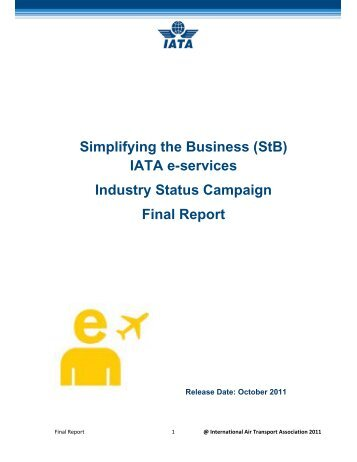 (StB) IATA e-services Industry Status Campaign Final Report
