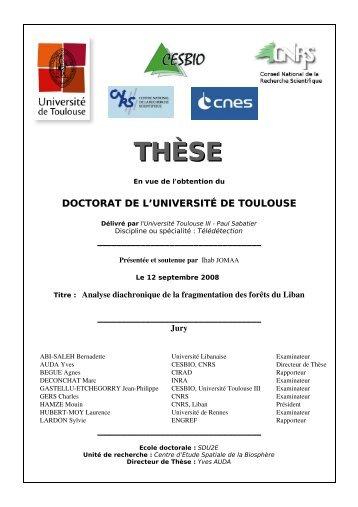 THÈSE - Cesbio - Université Toulouse III - Paul Sabatier
