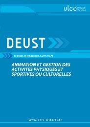 DEUST STAPS - Université du Littoral-Côte-d'Opale