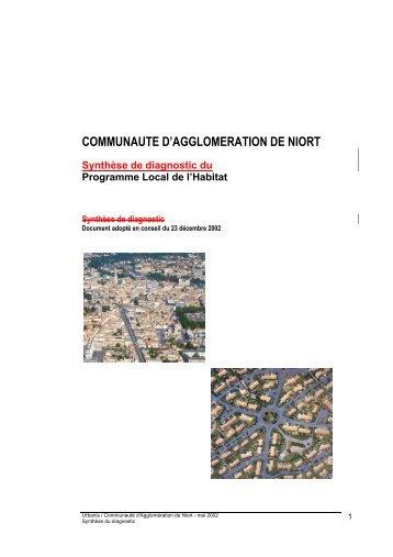 COMMUNAUTE D'AGGLOMERATION DE NIORT - Communauté d ...