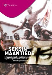 Seksin maantiede. Seksuaalioikeudet meillä ja muualla - Väestöliitto