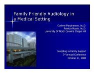 Family Friendly Audiology in a Medical Setting - National Center for ...