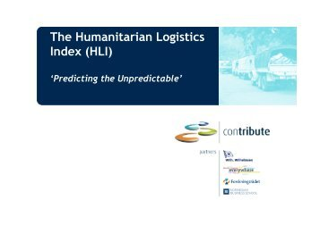 The Humanitarian Logistics Index (HLI) - The Supply Chain and ...
