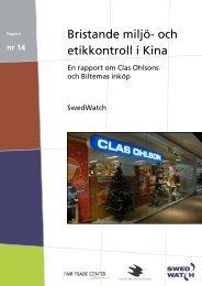 Broschyr - Clas Ohlsson och Biltema - Swedwatch