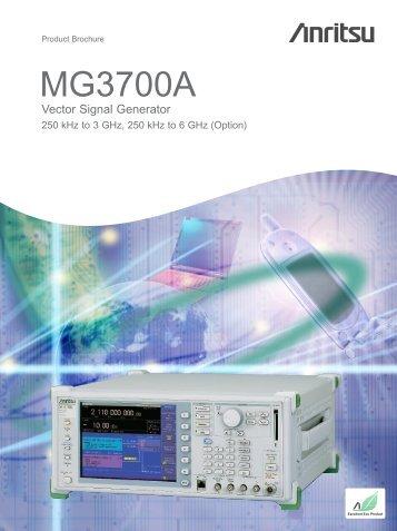 Anritsu MG3700A: Vector Signal Generator - elsinco