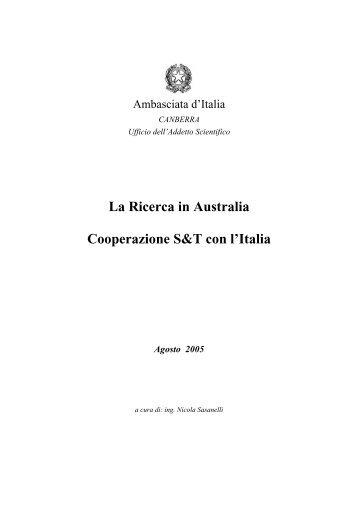 La Ricerca in Australia Cooperazione S&T con l'Italia - Associazione ...