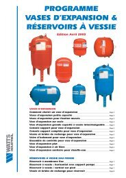 Vases d'expansions WATTS INDUSTRIES et accessoires - Point.P