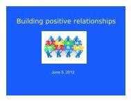 Building positive relationships - Lexington Public Schools