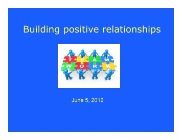 Building positive relationships - Lexington Public Schools