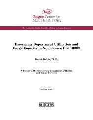 Emergency Department Utilization and Surge Capacity in New ...