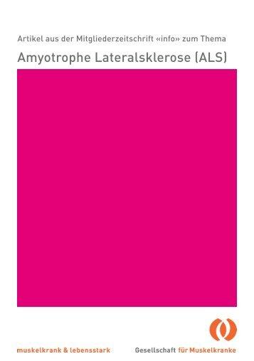 Amyotrophe Lateralsklerose (ALS) - Schweizerische Gesellschaft für ...