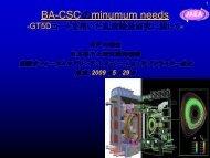 GT5D - 那珂核融合研究所 - 日本原子力研究開発機構