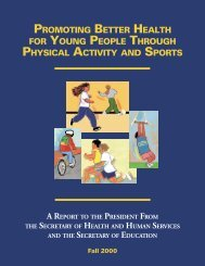 Promoting Better Health for Young People Through Physical Activity ...