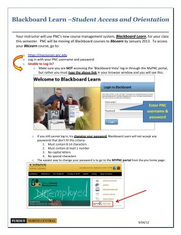 Blackboard Learn –Student Access and Orientation
