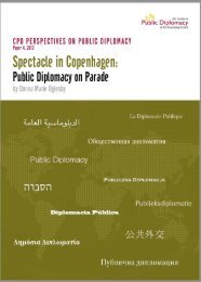 Spectacle in Copenhagen: Public Diplomacy on Parade