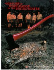 A History of Wood Badge in the United States - Scatacook District