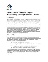 Archer Daniels Midland Company Sustainability Steering ... - ADM