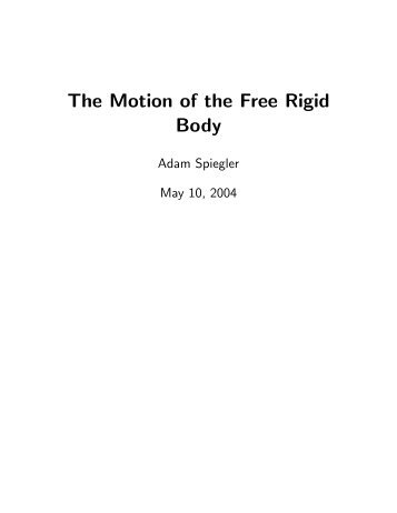 The Motion of the Free Rigid Body