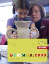 SUMMER:2008 - Currier Museum of Art